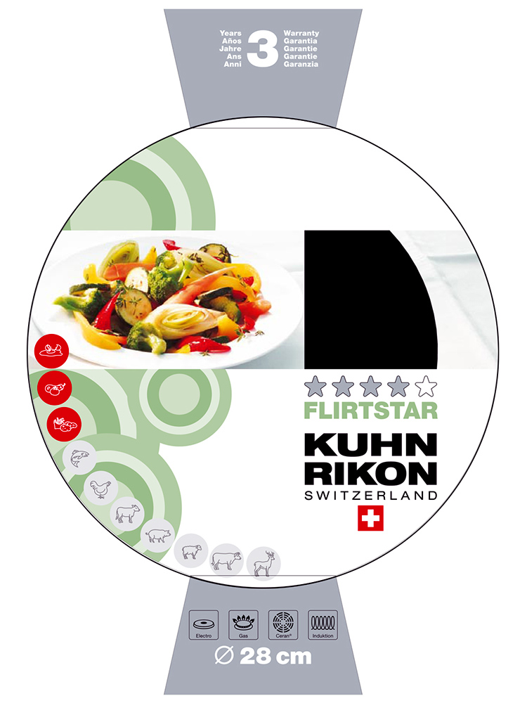 kuhn rikon switzerland flirtstar cookware illustration design