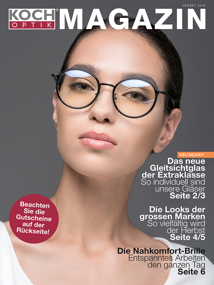 koch optic magazine cover photo model retouching