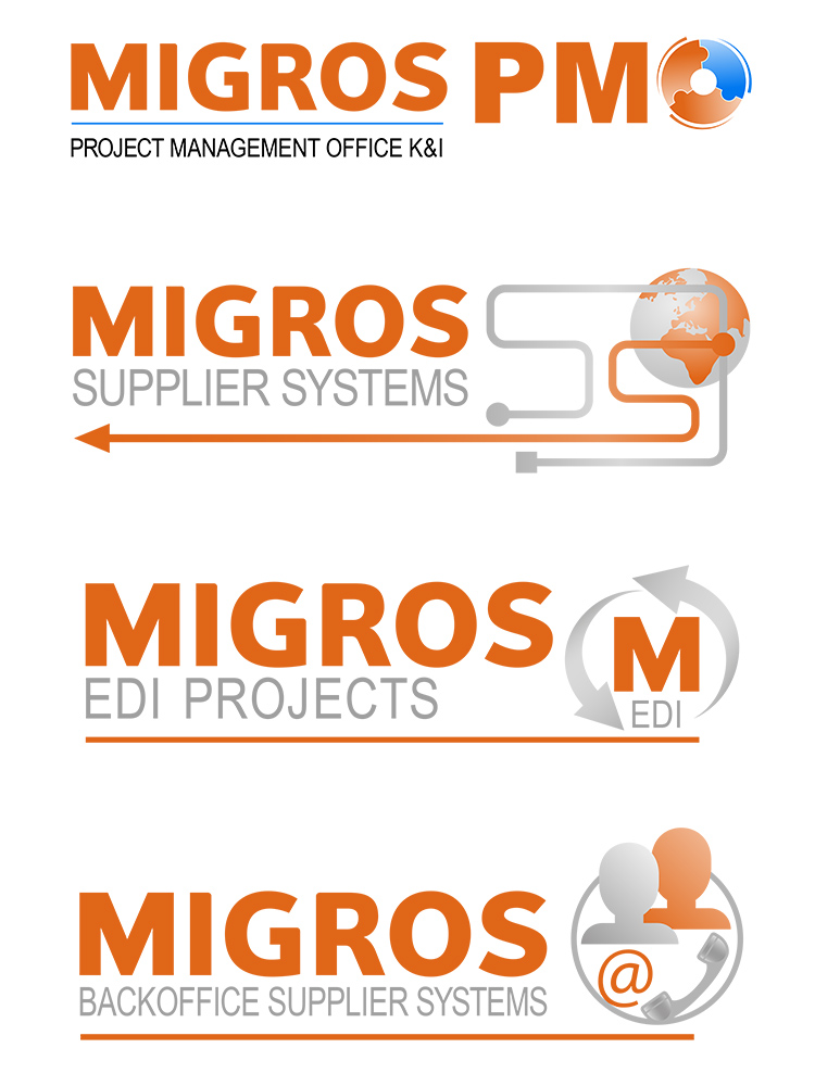 migros internal project brand logo icon design corporate identity